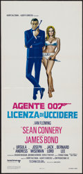 "Movie Posters:James Bond, Dr. No (United Artists, R-1970s). Italian Locandina (13"" X 27.5"").James Bond.. ..."