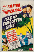 "Movie Posters:Adventure, Isle of Forgotten Sins (PRC, 1943). One Sheet (27"" X 41"").Adventure.. ..."