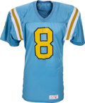 Football Collectibles:Uniforms, 1987-88 Troy Aikman Game Worn UCLA Bruins Jersey, MEARS A9. ...