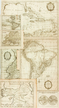 [Maps]. Group of Seven Copper-Engraved Maps. Various publishers and dates, circa 1780