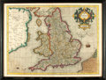 Books:Maps & Atlases, [Maps]. Gerardus Mercator, cartographer (1512-1594). CopperEngraved Map of Great Britain with Hand-Coloring Entitled,A...