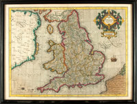 [Maps]. Gerardus Mercator, cartographer (1512-1594). Copper Engraved Map of Great Britain with Hand-Coloring Entitled, &...