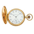 Timepieces:Pocket (post 1900), Elgin 14k Gold Fancy Engraved 16 Size Hunter's Case. ...