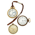 Timepieces:Pocket (post 1900), Three Elgin Open Face Pocket Watches For Parts Or Repair. ...(Total: 3 Items)