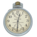 Timepieces:Pocket (post 1900), Hamilton Over Size U.S. Navy Up/Down Indicator Chronometer Watch. ...