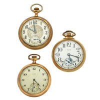 Three Elgin Pocket Watches For Parts Or Repair