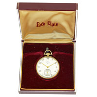 Lord Elgin 14k Gold 21 Jewel Pocket Watch