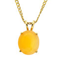 Estate Jewelry:Pendants and Lockets, Fire Opal, Gold Pendant-Necklace. ...