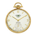 Timepieces:Pocket (post 1900), Elgin 14k Gold Series 876 Open Face Pocket Watch. ...