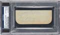 Baseball Collectibles:Others, Circa 1927 Lou Gehrig Signed Cut Signature....