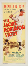 Baseball Collectibles:Others, 1950 Jackie Robinson Story Insert Movie Poster....