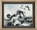 Baseball Collectibles:Photos, Early 1940's Ty Cobb Signed Photograph to Heisman Winner FrankSinkwich....