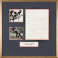 Olympic Collectibles:Autographs, Late 1930's Jesse Owens Signed Handwritten Letter with OlympicsContent. ...