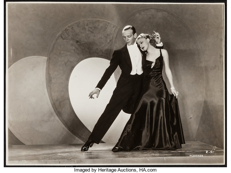 Fred Astaire And Ginger Rogers In Roberta Rko 1935 Trimmed Lot 54422 Heritage Auctions