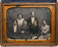 Photography:Daguerreotypes, Early Photography: Half Plate Daguerreotype Family Group....