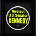 Political:Small Paper (1896-present), An Uncommon Large 8 ¼-inch Decal for JFK's 1958 Senatorial Campaign....