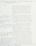 Political:Small Paper (1896-present), Jacqueline Onassis: Great Handwritten Note Which is Very Illuminating About Her Personality and Lifestyle....