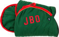 "Political:Miscellaneous Political, Jackie Bouvier Kennedy Onassis: White Saddle Pad with Monogram""JBO""...."