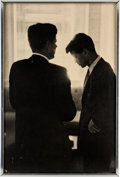 Photography:Official Photos, Jack and Bobby: A Numbered Large-Format Photo by Jacques Lowe....