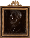 Antiques:Decorative Americana, Abraham Lincoln: Bronze Plaque by O'Donovan....