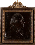 Antiques:Decorative Americana, George Washington: Impressive Bronze Plaque by O'Donovan....