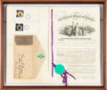 Political:Small Paper (pre-1896), Election of 1868: Patent Papers for Campaign Badge. ...