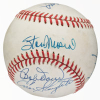Hall of Famers Multi Signed Baseball (8 Signatures)