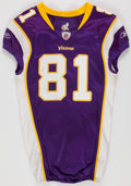 Football Collectibles:Uniforms, 2010 Visanthe Shiancoe Game Worn Minnesota Vikings Jersey and Pants. - Worn 1/17 Vs. Dallas....