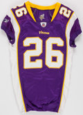 Football Collectibles:Uniforms, 2010 Antoine Winfield Game Worn Minnesota Vikings Jersey, Pants and Socks - Worn 1/17 Vs. Dallas....