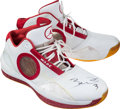 Basketball Collectibles:Others, 2010 Dwyane Wade Game Worn, Signed Miami Heat Shoes - Jordan Model....