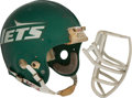 Football Collectibles:Helmets, Early to Mid 1980's Freeman McNeil Game Worn New York Jets Helmet....