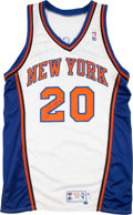 Basketball Collectibles:Uniforms, 1997-98 Allan Houston Game Worn New York Knicks Jersey. ...