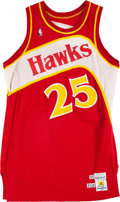 "Basketball Collectibles:Uniforms, 1988-89 Glenn ""Doc"" Rivers Game Worn Atlanta Hawks Jersey. ..."