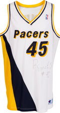 Basketball Collectibles:Uniforms, Early 1990's Rik Smits Game Worn, Signed Indiana Pacers Jersey....