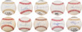 Autographs:Baseballs, 1980's-2010's 500 Home Run Club Single Signed Baseballs Lot of10....