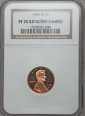 Proof Lincoln Cents, 1997-S 1C PR70 Red Ultra Cameo NGC. NGC Census: (91). PCGS Population (186). Numismedia Wsl. Price for problem free NGC/PC...