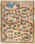 Political:Small Paper (pre-1896), Colorful 1840 Poster/Game with Vignettes of William Henry Harrison and Runaway Slave....