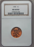 1985 1C MS68 Red NGC. NGC Census: (39/5). PCGS Population: (50/0). ...(PCGS# 3071)