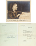 Political:Small Paper (1896-present), Franklin D. Roosevelt: Three Autograph Items.... (Total: 3 Items)