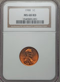Lincoln Cents: , 1988 1C MS68 Red NGC. NGC Census: (43/0). PCGS Population (19/0). Numismedia Wsl. Price for problem free NGC/PCGS coin in ...