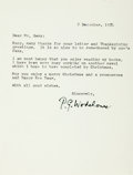 Autographs:Authors, Humorist Sir Pelham G. Wodehouse Typed Letter Signed...