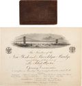 Miscellaneous:Ephemera, Brooklyn Bridge: Opening Ceremonies Ephemera.... (Total: 2 Items)