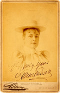 Autographs:Celebrities, Actress Lillian Russell Cabinet Card Signed....