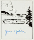 Autographs:Authors, Author John Updike Signed Bookplate....