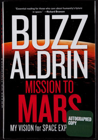 """Buzz Aldrin Signed """"Mission to Mars"""" Hardcover Book"""