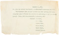 Political:Small Paper (1896-present), William McKinley: Assassination-related Health Bulletin....