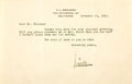 Autographs:Authors, Satirist Henry L. Mencken typed Letter Signed....