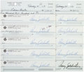 Autographs:Statesmen, Barry Goldwater: Signed Checks.... (Total: 10 Items)