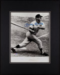 Baseball Collectibles:Photos, 1990's Mickey Mantle Signed Oversized Photograph. ...