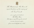 Political:Small Paper (1896-present), Theodore Roosevelt: White House Invitation....